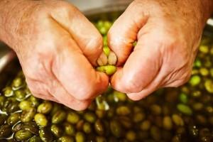 snocciolatura olive ammaccate